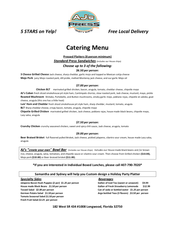 Catering Menu Longwood_1