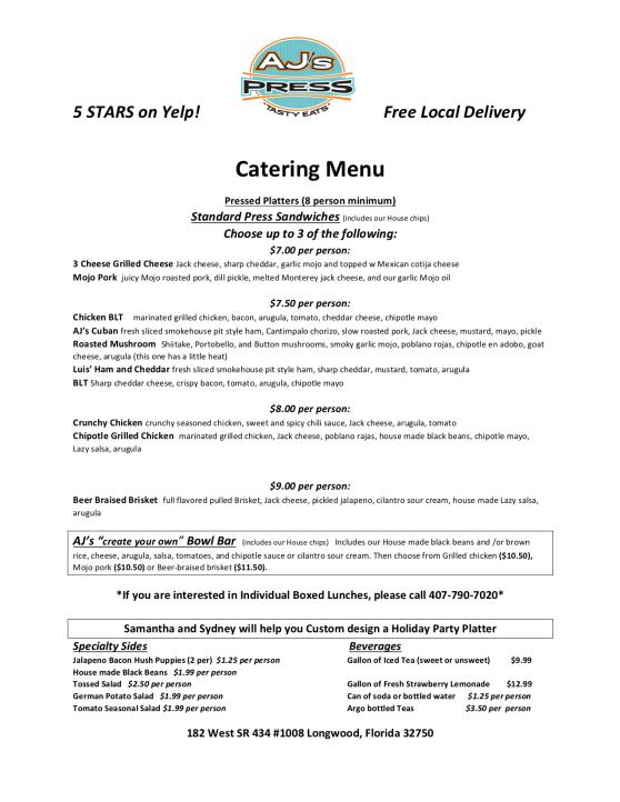Catering Menu Longwood April 2019-1